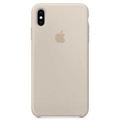 Apple Stone Silicone Coque iPhone XS Max