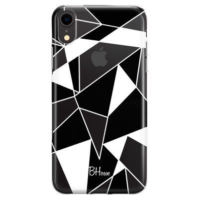 Black White Geometric Coque iPhone XR