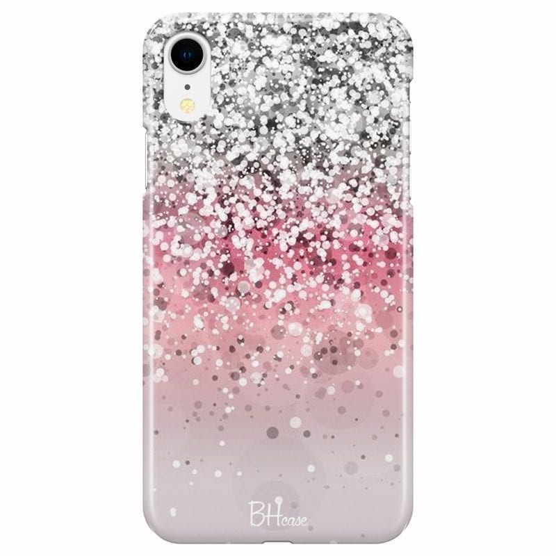 Glitter Pink Silver Coque iPhone XR