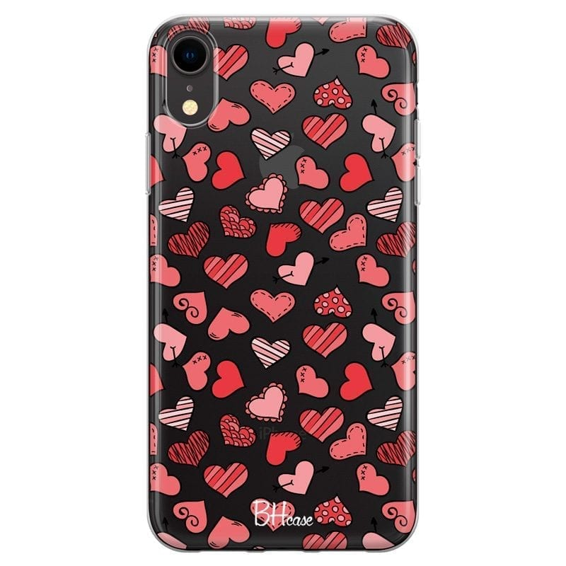 Hearts Pink Coque iPhone XR