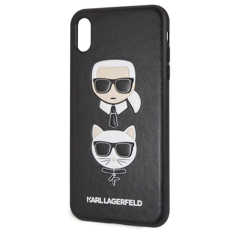 Karl Lagerfeld Karl and Choupette Black Coque iPhone XS Max