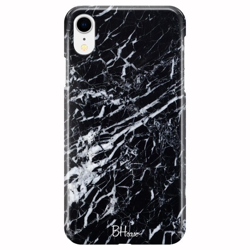 Marble Black Coque iPhone XR