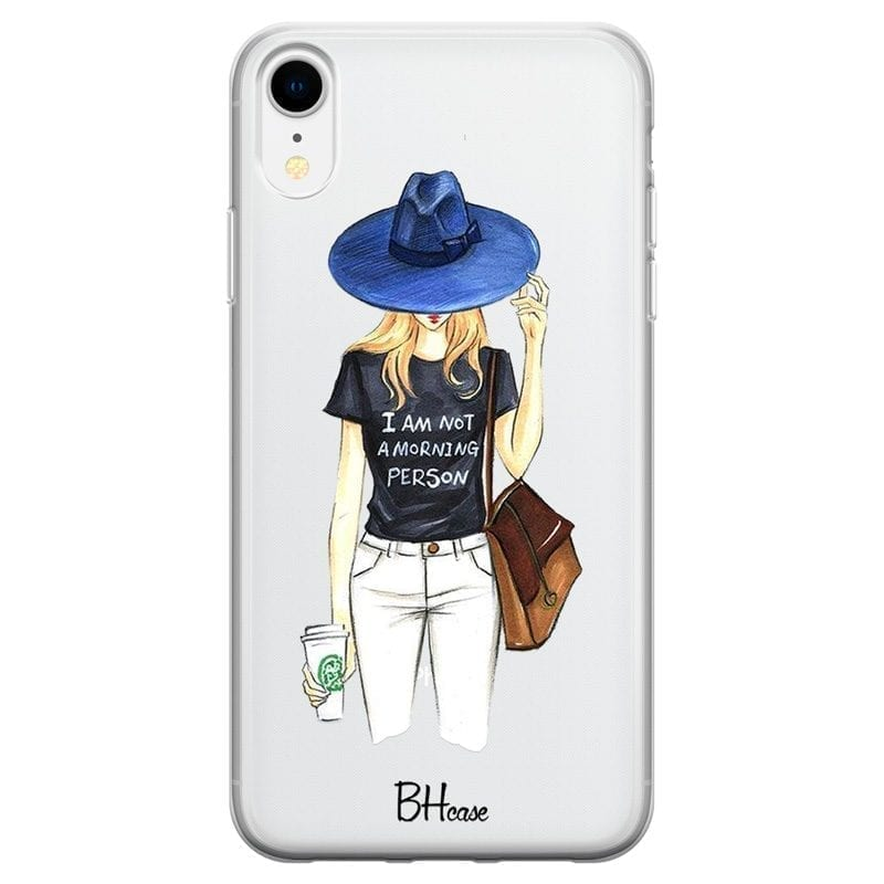 Morning Person Girl Coque iPhone XR