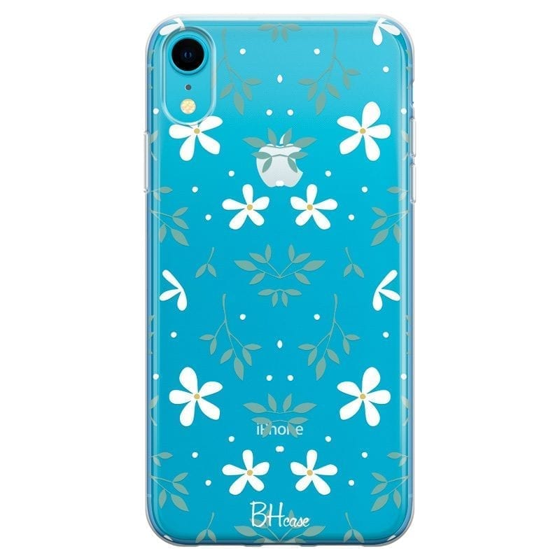 White Floral Coque iPhone XR