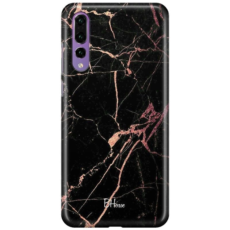 Black Rose Marble Coque Huawei P20 Pro