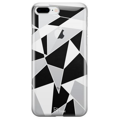 Black White Geometric Coque iPhone 7 Plus/8 Plus