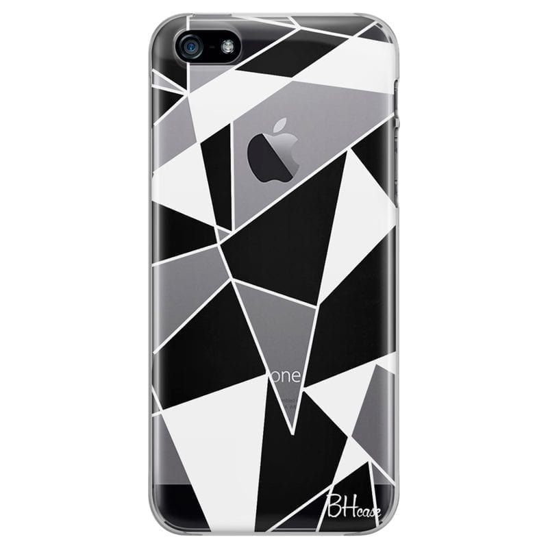 Black White Geometric Coque iPhone SE/5S