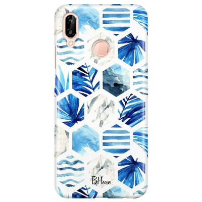 Blue Design Coque Huawei P20 Lite