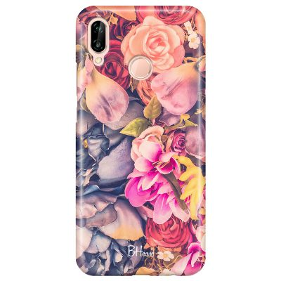 Colorful Flowers Coque Huawei P20 Lite