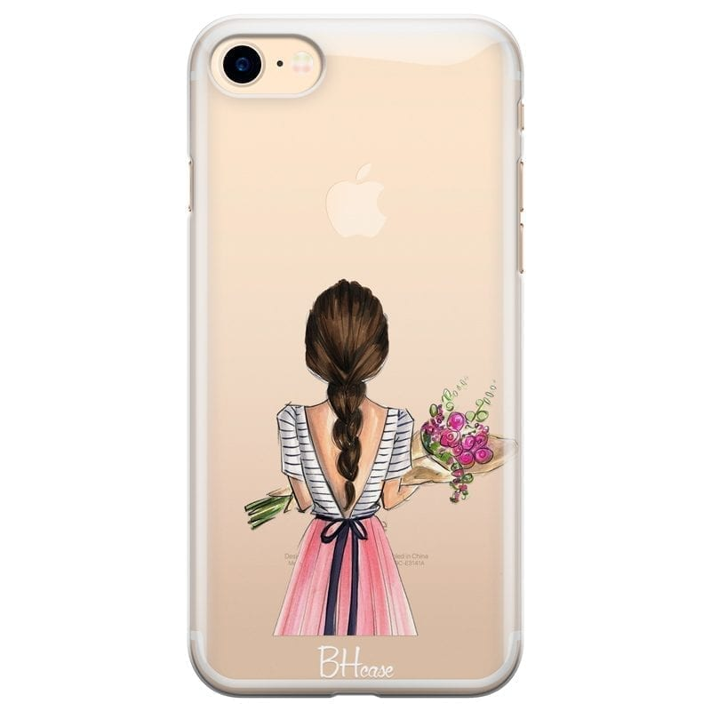Floral Girl Coque iPhone 8/7/SE 2 2020