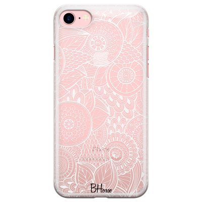 Flower Pattern Coque iPhone 8/7/SE 2 2020