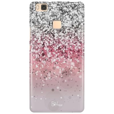 Glitter Pink Silver Coque Huawei P9 Lite
