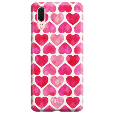Hearts Pink Coque Huawei P20