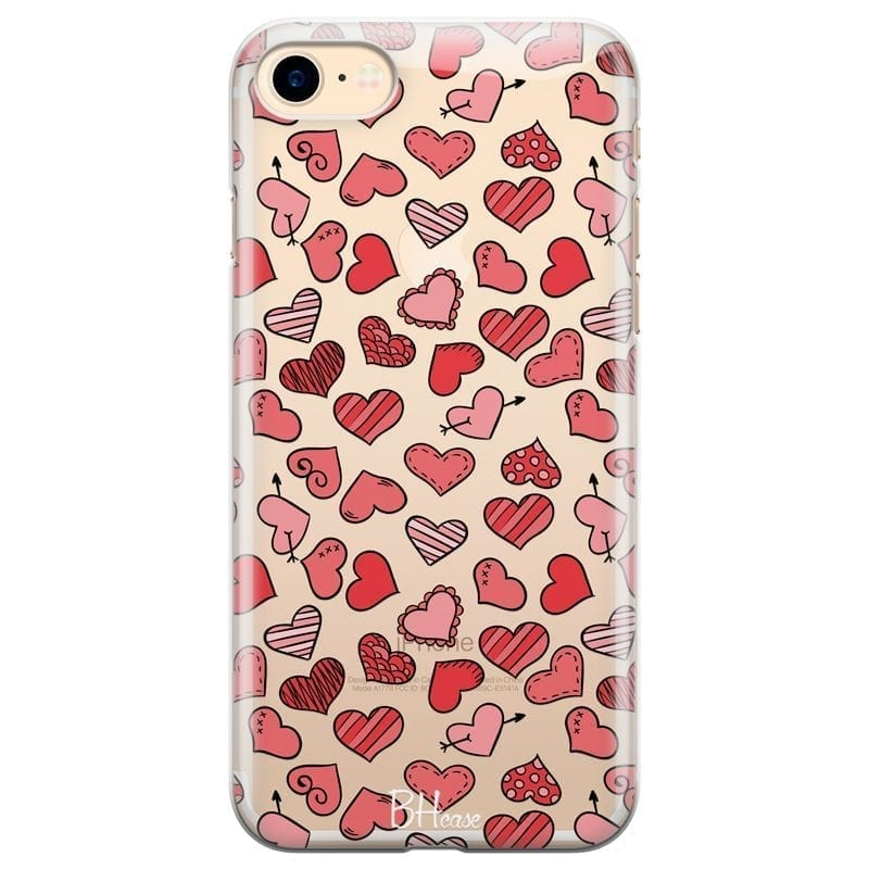 Hearts Red Coque iPhone 8/7/SE 2 2020