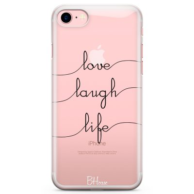 Love Laugh Life Coque iPhone 8/7/SE 2 2020