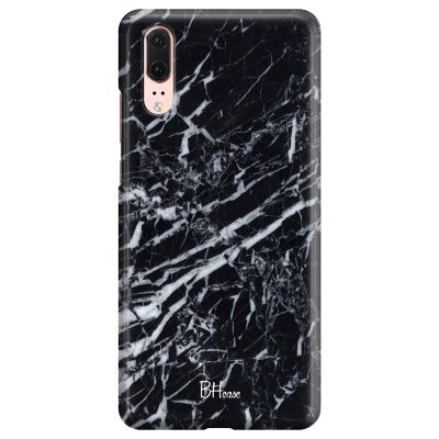 Marble Black Coque Huawei P20