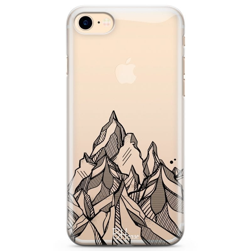 Mountains Geometric Coque iPhone 8/7/SE 2 2020