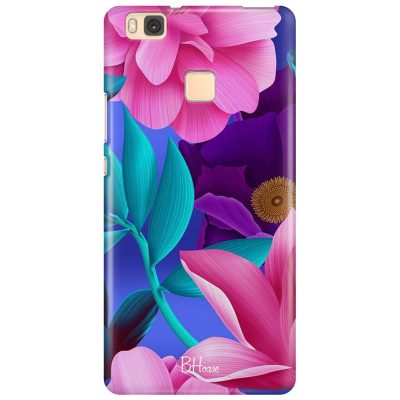Pinky Floral Coque Huawei P9 Lite