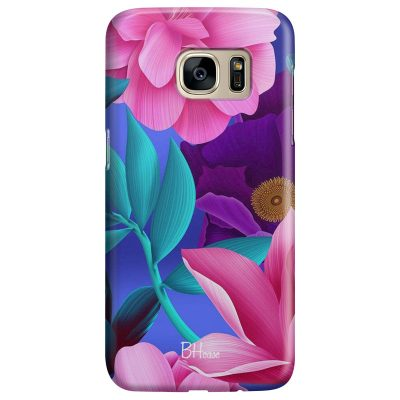 Pinky Floral Coque Samsung S7