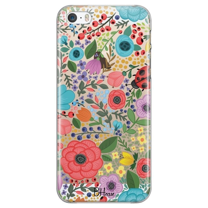 Spring Flowers Coque iPhone SE/5S