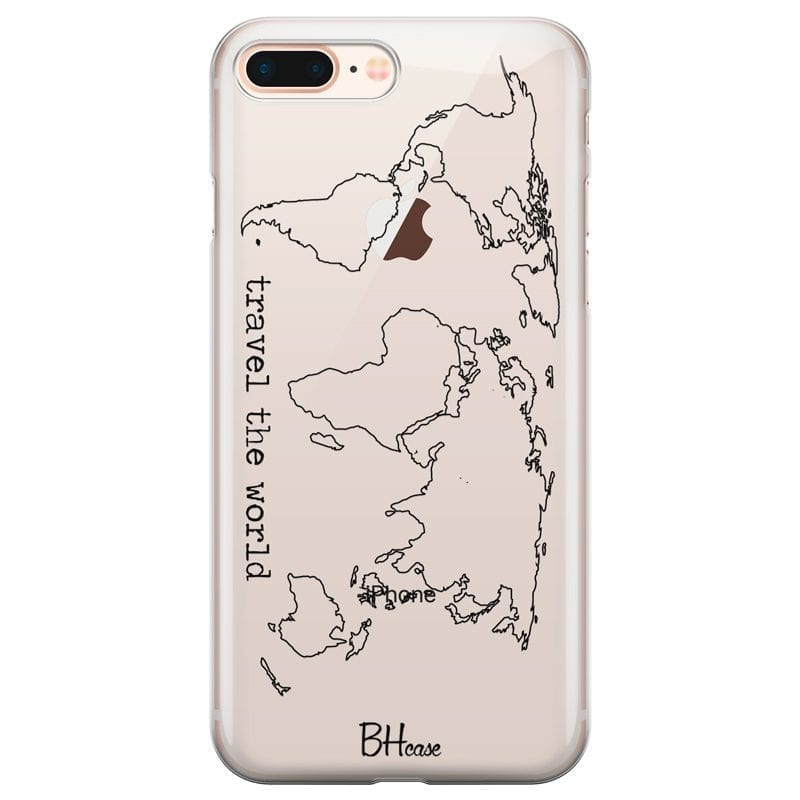 Travel The World Coque iPhone 7 Plus/8 Plus