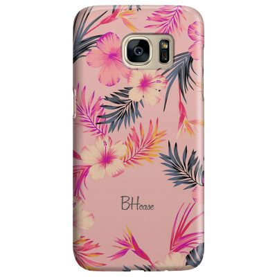 Tropical Pink Coque Samsung S7