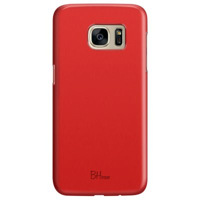 Red Apple Color Coque Samsung S7