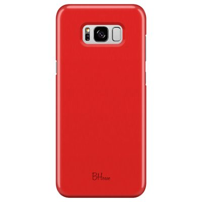 Red Apple Color Coque Samsung S8