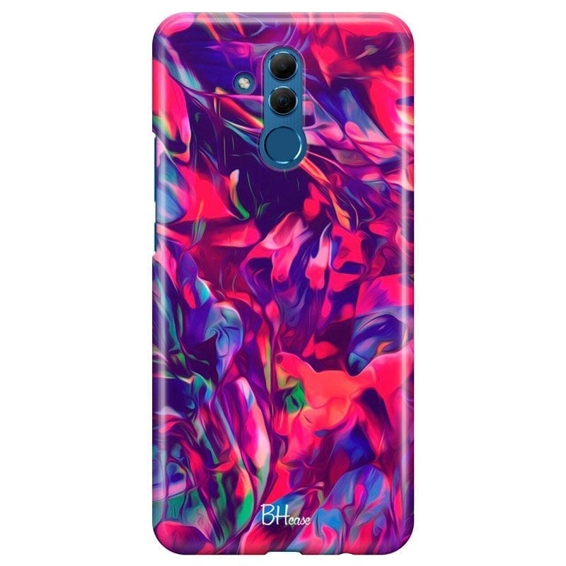Abstract Red Coque Huawei Mate 20 Lite