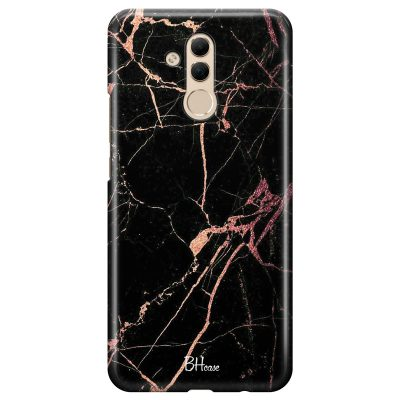 Black Rose Marble Coque Huawei Mate 20 Lite