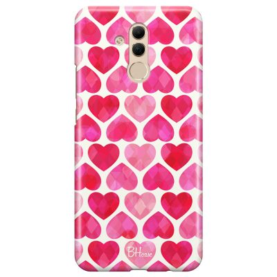 Hearts Pink Coque Huawei Mate 20 Lite