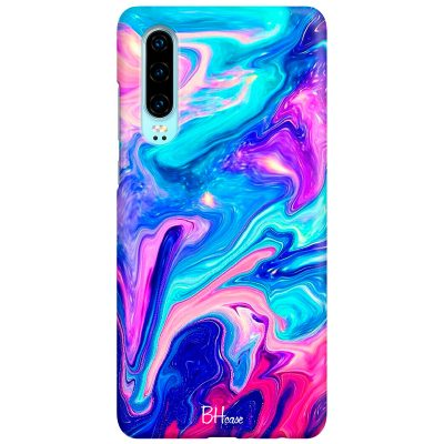 Abstract Blue Coque Huawei P30
