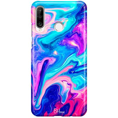 Abstract Blue Coque Huawei P30 Lite