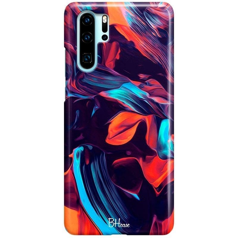 Abstract Purple Coque Huawei P30 Pro