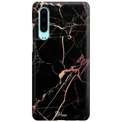 Black Rose Marble Coque Huawei P30