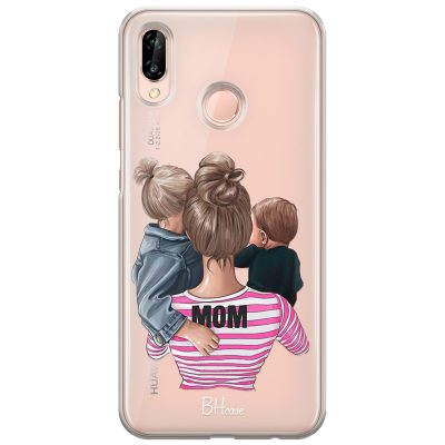 Mom Of Boy And Girl Coque Huawei P20 Lite