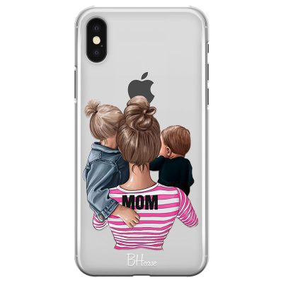 Mom Of Boy And Girl Coque iPhone X/XS