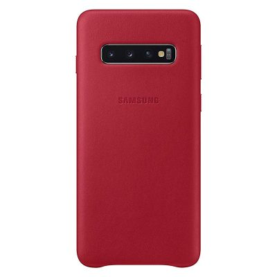 Samsung Leather Red Coque Samsung S10 Plus