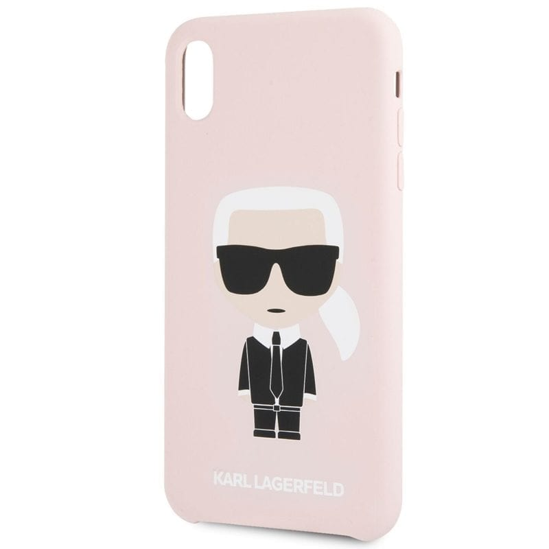 Karl Lagerfeld Iconic Full Body Silicone Pink Coque iPhone X/XS