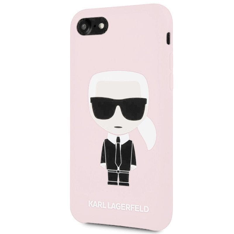 Karl Lagerfeld Iconic Full Body Silicone Pink Coque iPhone 8/7/6/SE 2 2020