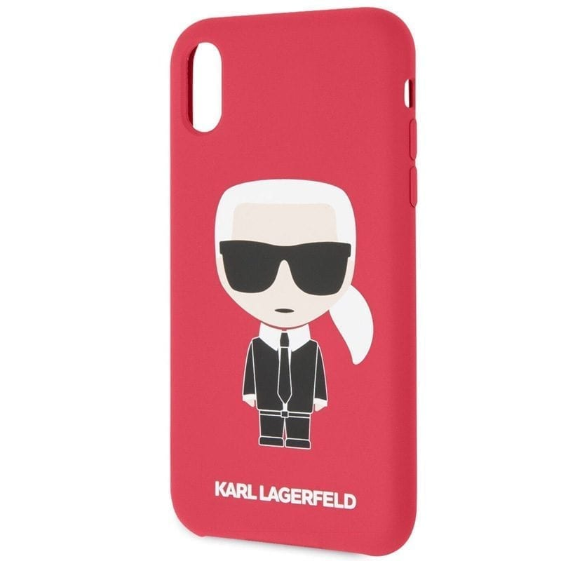 Karl Lagerfeld Iconic Full Body Silicone Red Coque iPhone XR