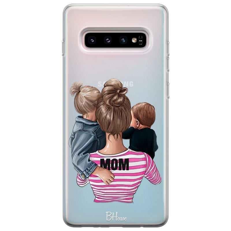 Mom Of Boy And Girl Coque Samsung S10 Plus