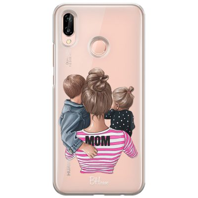 Mom Of Girl And Boy Coque Huawei P20 Lite