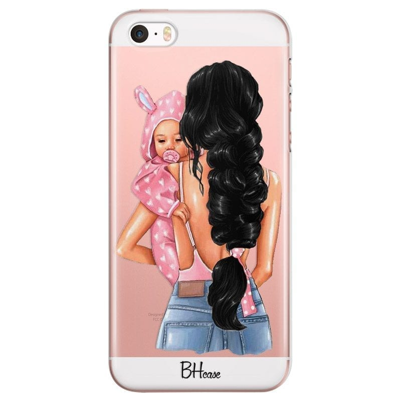 Mother Black Haired With Girl Coque iPhone SE/5S