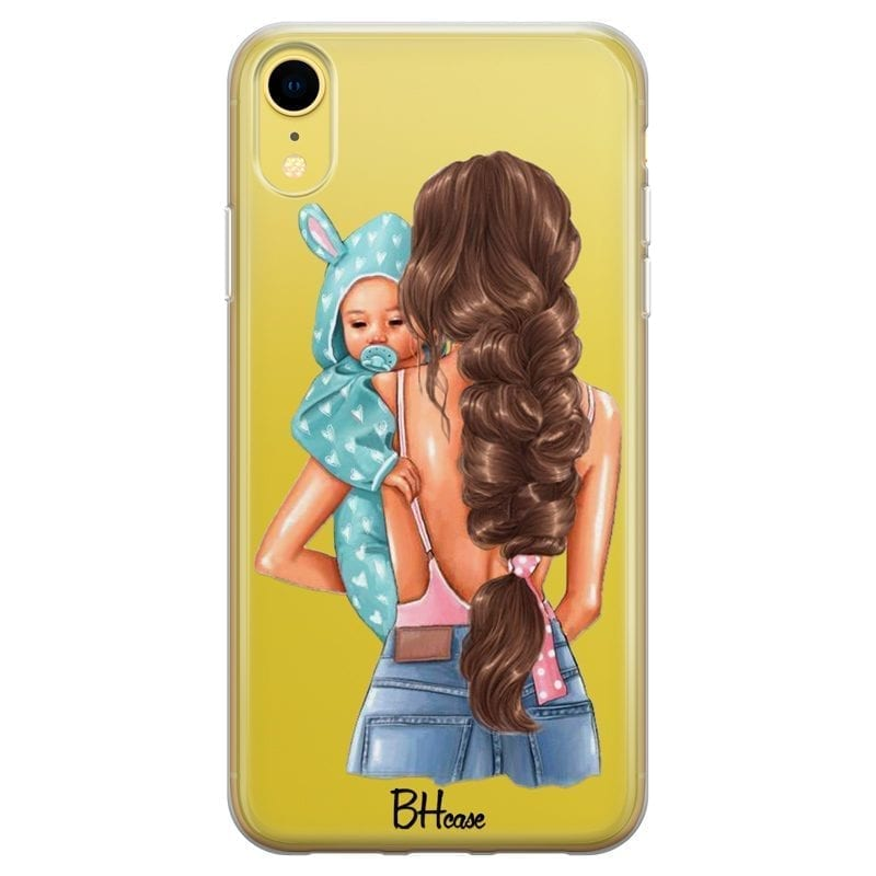 Mother Brunette With Boy Coque iPhone XR