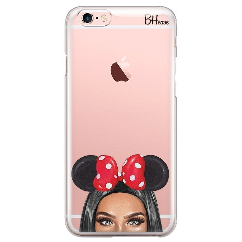 Black Haired Girl With Ribbon Coque iPhone 6/6S