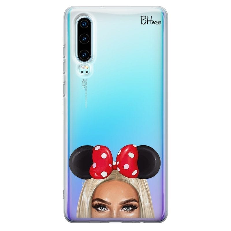 Blonde Girl With Ribbon Coque Huawei P30
