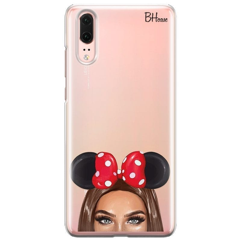 Brunette Girl With Ribbon Coque Huawei P20