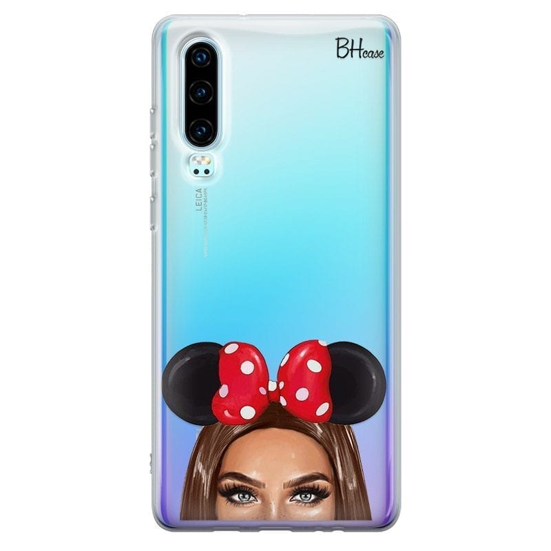 Brunette Girl With Ribbon Coque Huawei P30