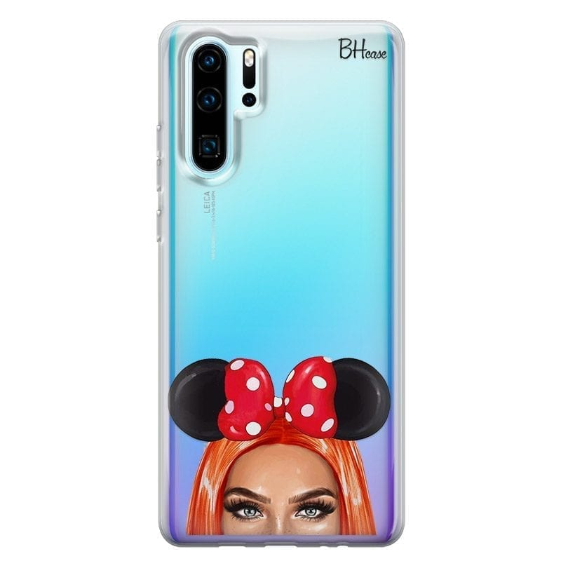 Redhead Girl With Ribbon Coque Huawei P30 Pro